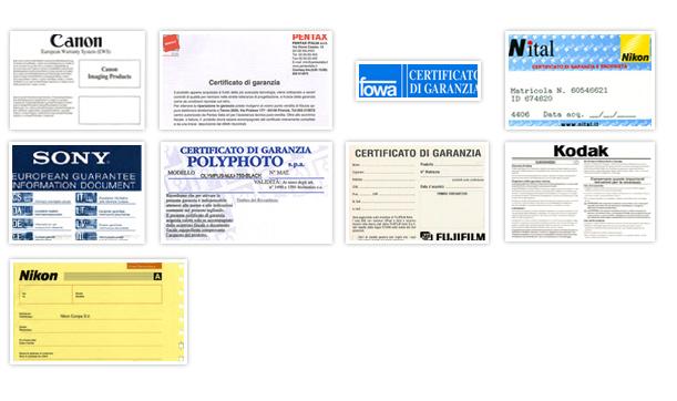 Alcuni certificati di garanzia
