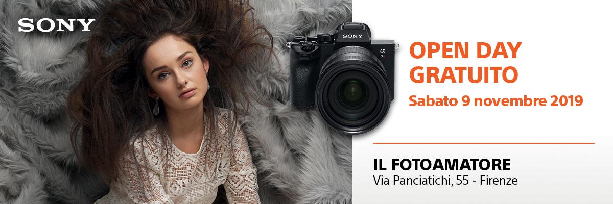 Sabato 9 Novembre Sony Open Day Firenze