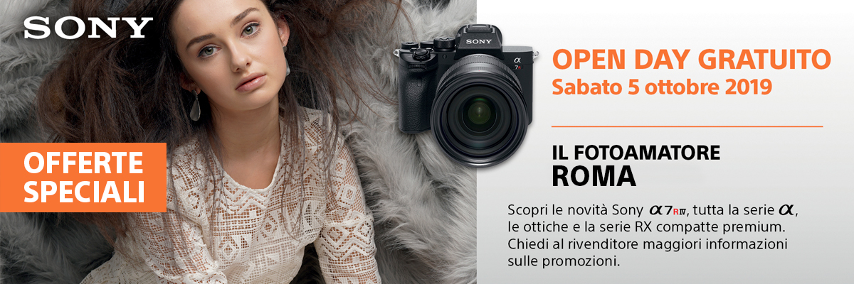 Sabato 5 Ottobre Sony Open Day Roma