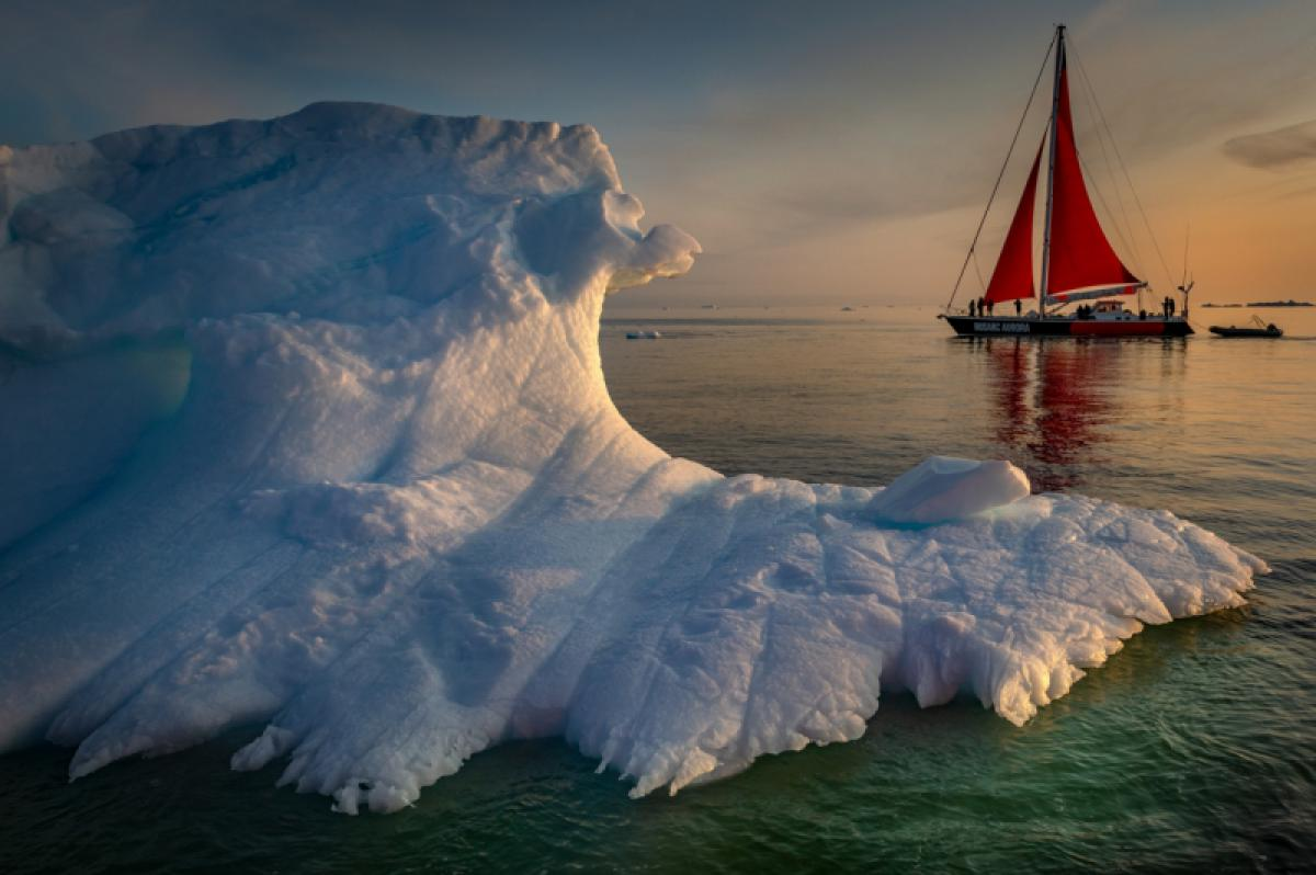 21/06/2020 - Kerry Koepping - Iceberg With Red Sail