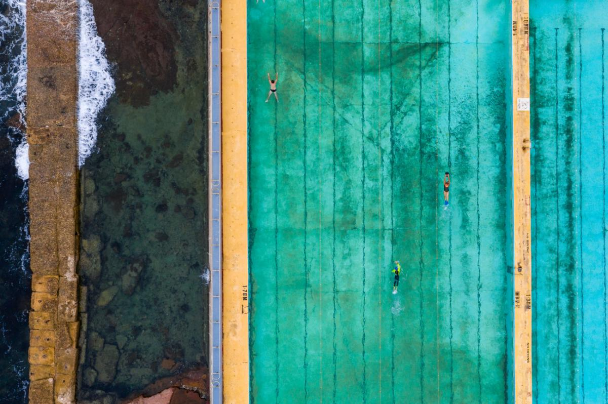 27/12/2020 - Sagi Roitfarb - Aerial view of Continental Pool in NSW