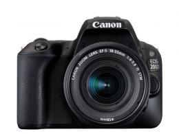 CANON EOS 200D BLACK+EF-S 18-55 STM